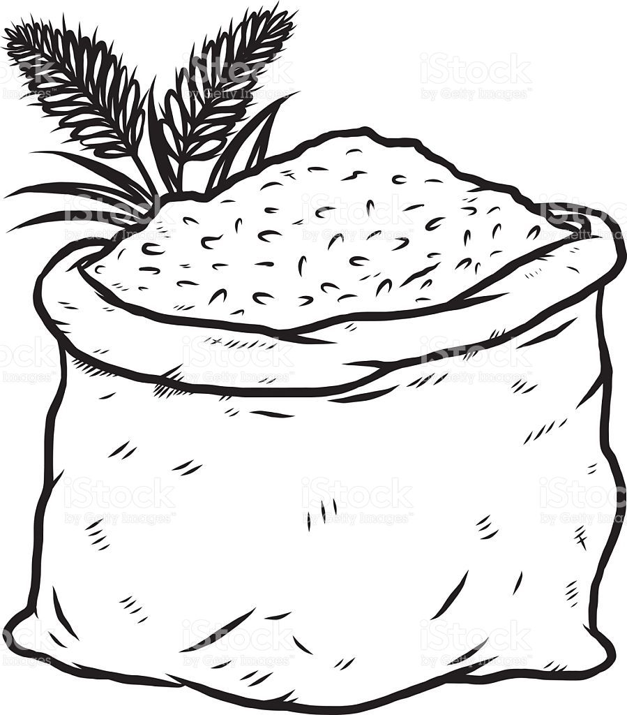 Black and white clipart rice clipart freeuse rice clipart black and white | food color sheets in 2019 | Clipart ... clipart freeuse