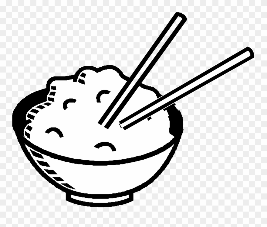Black and white clipart rice png royalty free library Rice Clipart Black And White - Rice Bowl Clip Art - Png Download ... png royalty free library