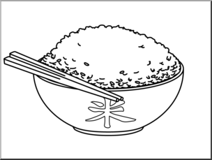 Black and white clipart rice banner black and white Clip Art: Rice B&W I abcteach.com | abcteach banner black and white