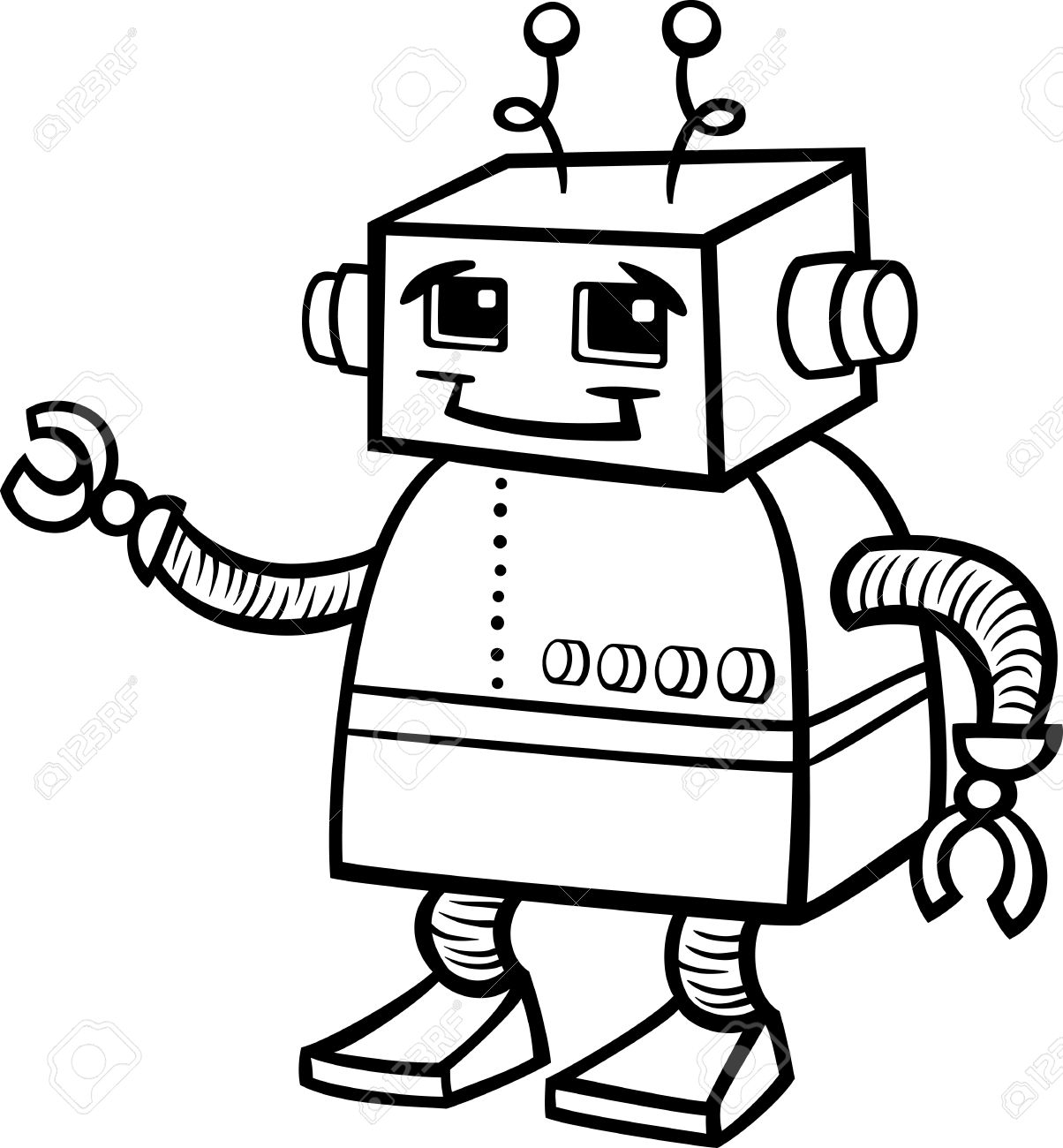 Black robot clipart clipart transparent library Robot Clipart Black And White | Free download best Robot Clipart ... clipart transparent library