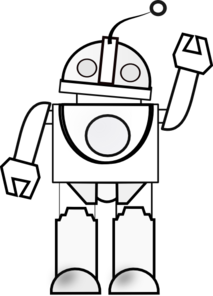 Black and white clipart robot no watermark clip art royalty free Robot! | Embroidery | Robot art, Robot clipart, Robot clip art royalty free