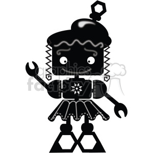 Black and white clipart robot no watermark image freeuse download Robot Girl - Maggie clipart. Royalty-free clipart # 394108 image freeuse download
