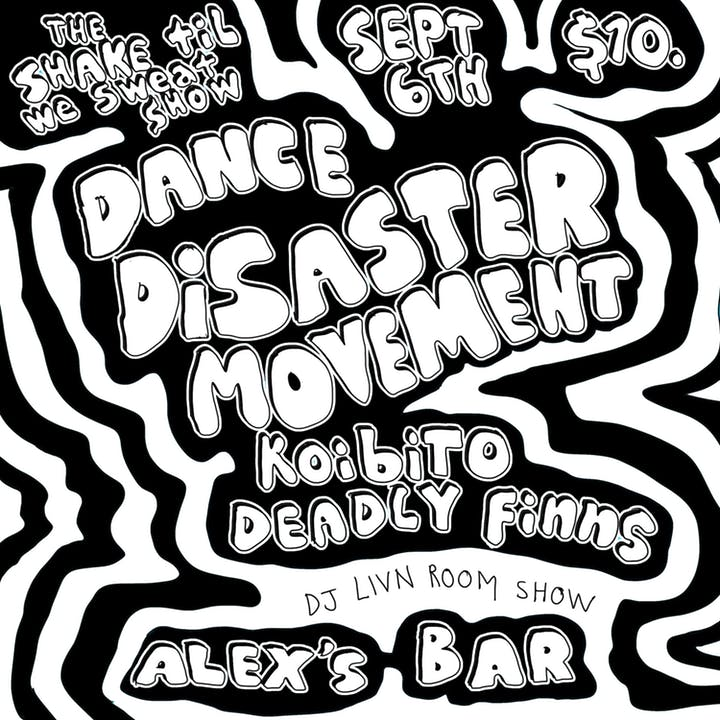 Black and white clipart room is a disaster vector freeuse library Alex\'s Bar » Dance Disaster Movement + special guests Koibito ... vector freeuse library