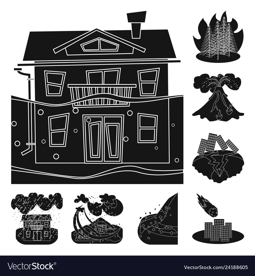 Black and white clipart room is a disaster jpg transparent library Design of calamity and crash icon jpg transparent library