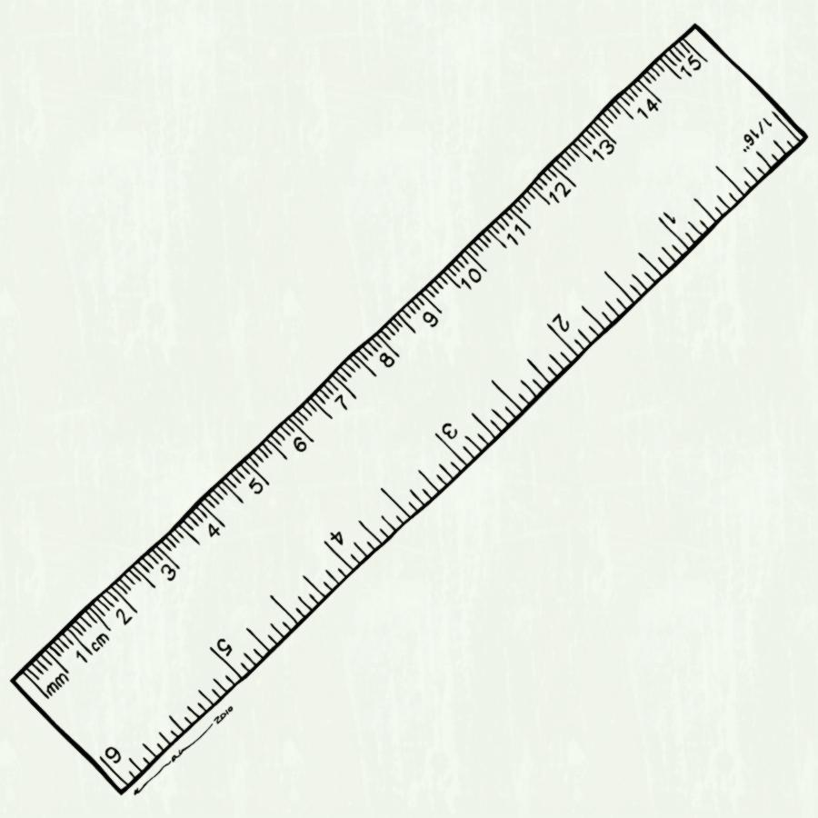 Black and white clipart ruler vector transparent library Ruler black and white clipart 3 » Clipart Station vector transparent library