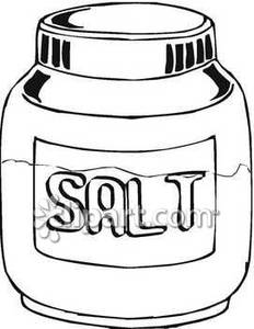 Black and white clipart salt