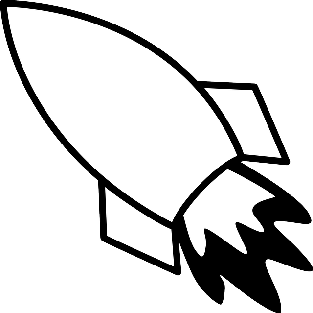 Black and white clipart scientist and rocket jpg black and white stock Free Image on Pixabay - Rocket, Flying, Exhaust, Flames   Draw ... jpg black and white stock