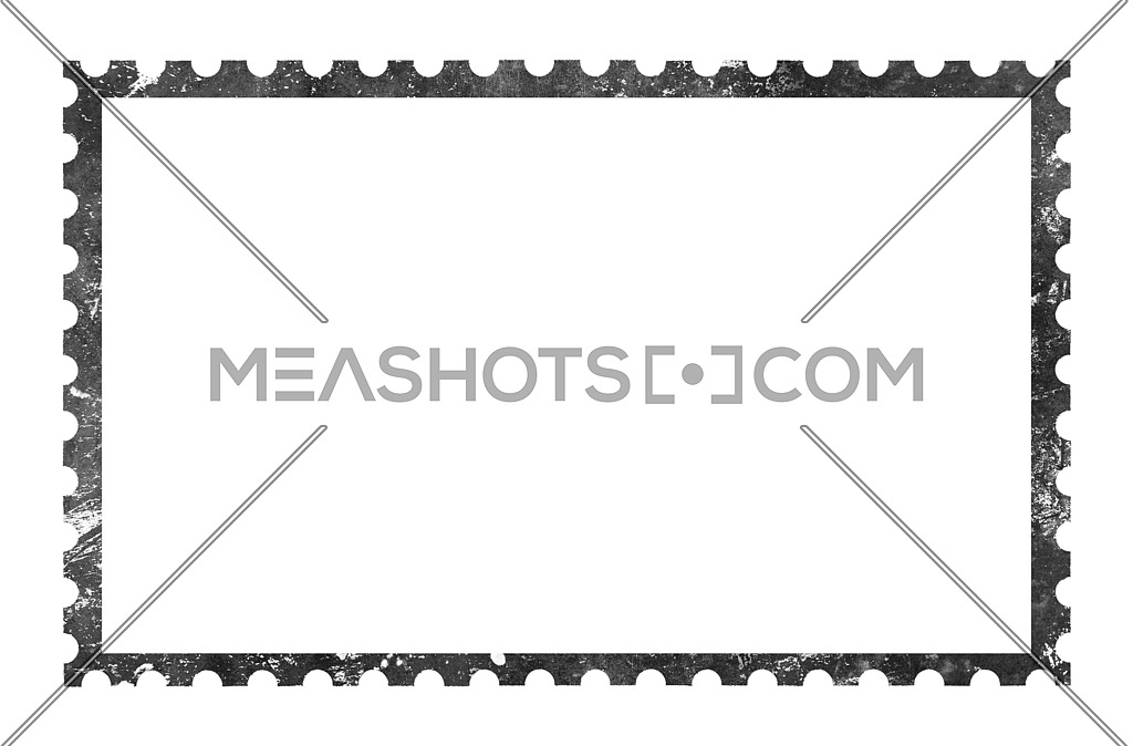 Black and white clipart seal on paper royalty free stock Old grunge blank postage paper stamp on white-197428 | Meashots royalty free stock
