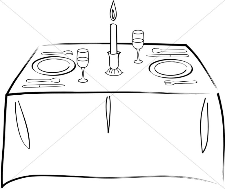 Black and white clipart set the tablr clipart royalty free library Set table clipart black and white 5 » Clipart Portal clipart royalty free library