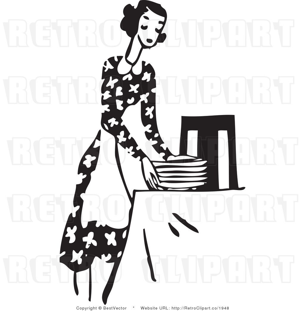 Children at table clipart black and white image black and white stock Setting The Table Clipart Kid set the table clip art kid ... image black and white stock
