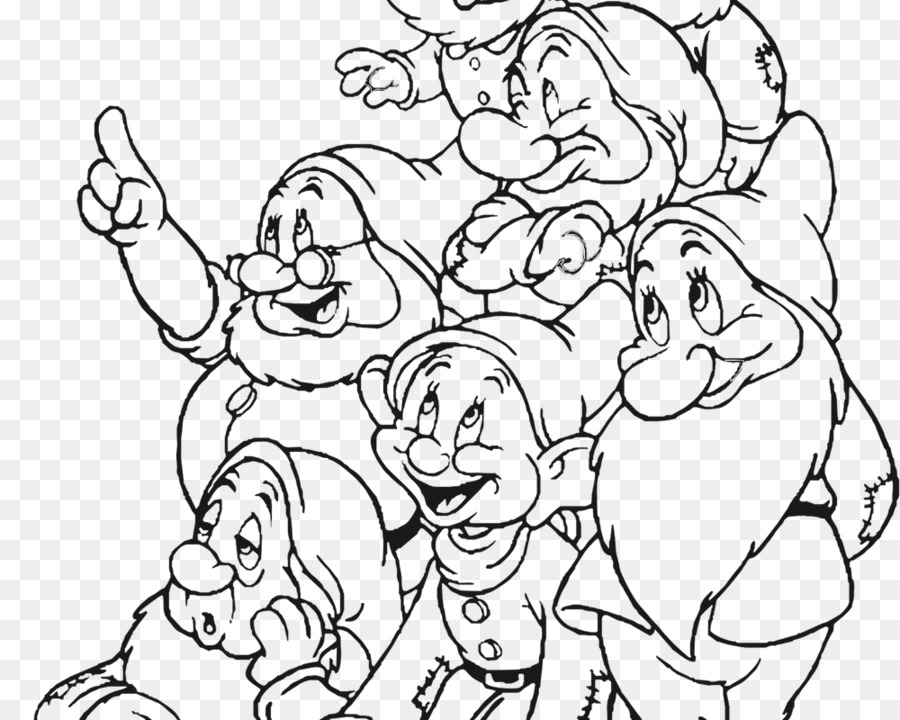 Black and white clipart seven dwarfs clip black and white download Seven Dwarfs Snow White Queen Dopey - snow white clip black and white download