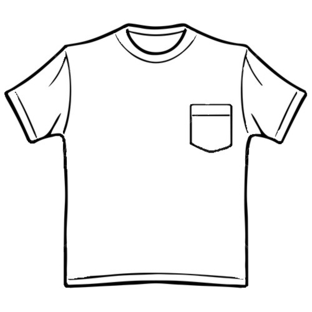 Clipart black and white a hole in the pocket png stock White Shirt Clipart | Free download best White Shirt Clipart on ... png stock