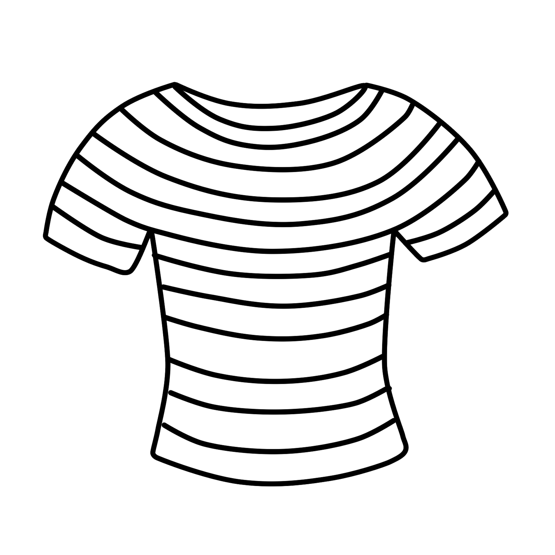Black and white clipart shirt banner black and white library T-shirt Clipart Free Striped Shirt Clip Art – Free Clipart – Clipart ... banner black and white library