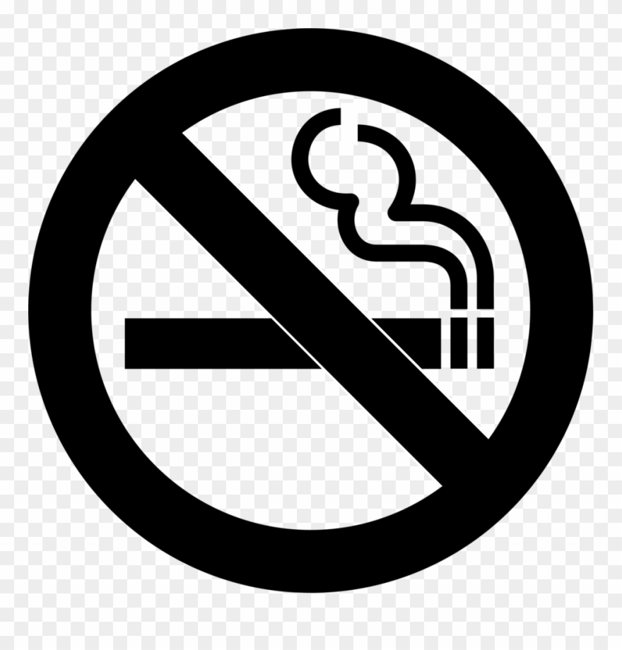 Black and white clipart sign banner library No Smoking - No Smoking Sign Black And White Png Clipart (#79496 ... banner library