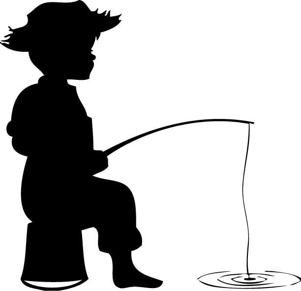 Boy hunting clipart free library Little Boy Fishing Silhouette Clipart - Free Clipart   fishing ... free library