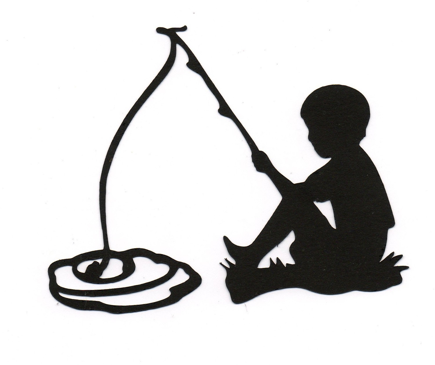 Black and white clipart silhouette of little boy fishing jpg Free Boy Fishing Cliparts, Download Free Clip Art, Free Clip Art on ... jpg