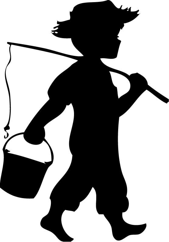 Black and white clipart silhouette of little boy fishing image free stock Free Boy Fishing Cliparts, Download Free Clip Art, Free Clip Art on ... image free stock