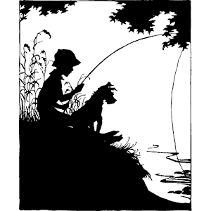 Black and white clipart silhouette of little boy fishing jpg download Free Boy Fishing Cliparts, Download Free Clip Art, Free Clip Art on ... jpg download