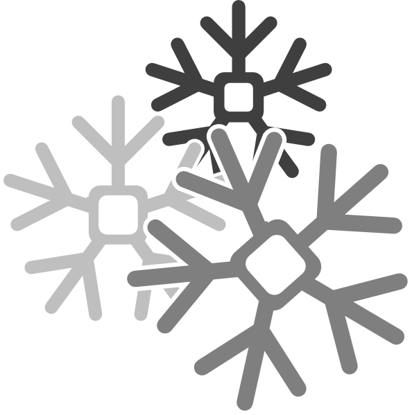 Snowflake clipart black and white png graphic royalty free stock Gray Snowflakes Clip Art at Clker.com - vector clip art online ... graphic royalty free stock