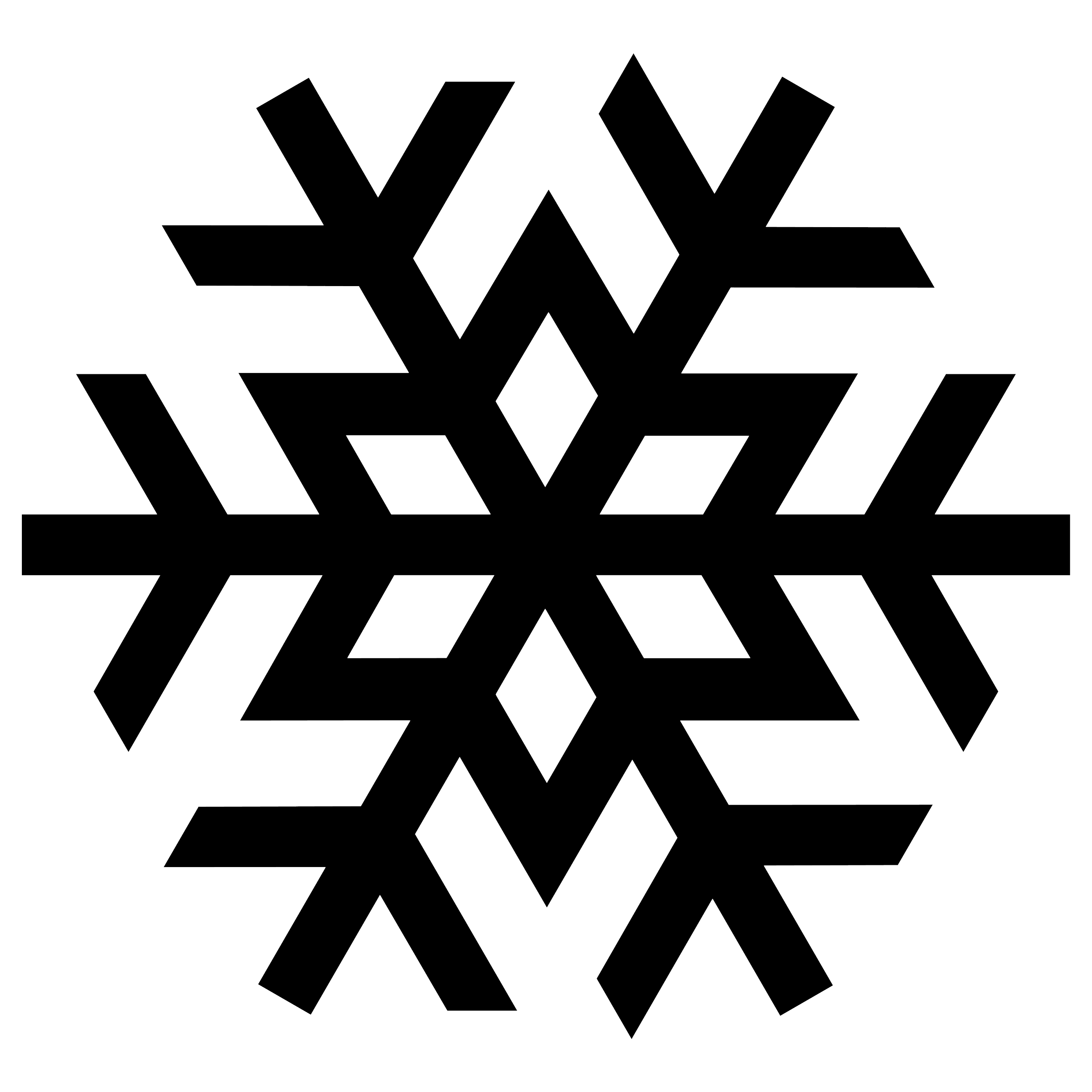 Snowflake clipart black and white png clip art transparent stock Snowflake Black transparent PNG - StickPNG clip art transparent stock
