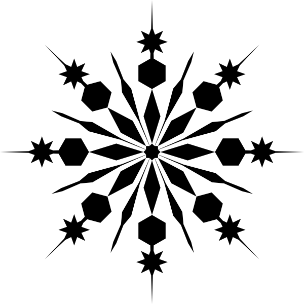 Snowflake clipart black graphic transparent library Snowflake Black Clip Art at Clker.com - vector clip art online ... graphic transparent library