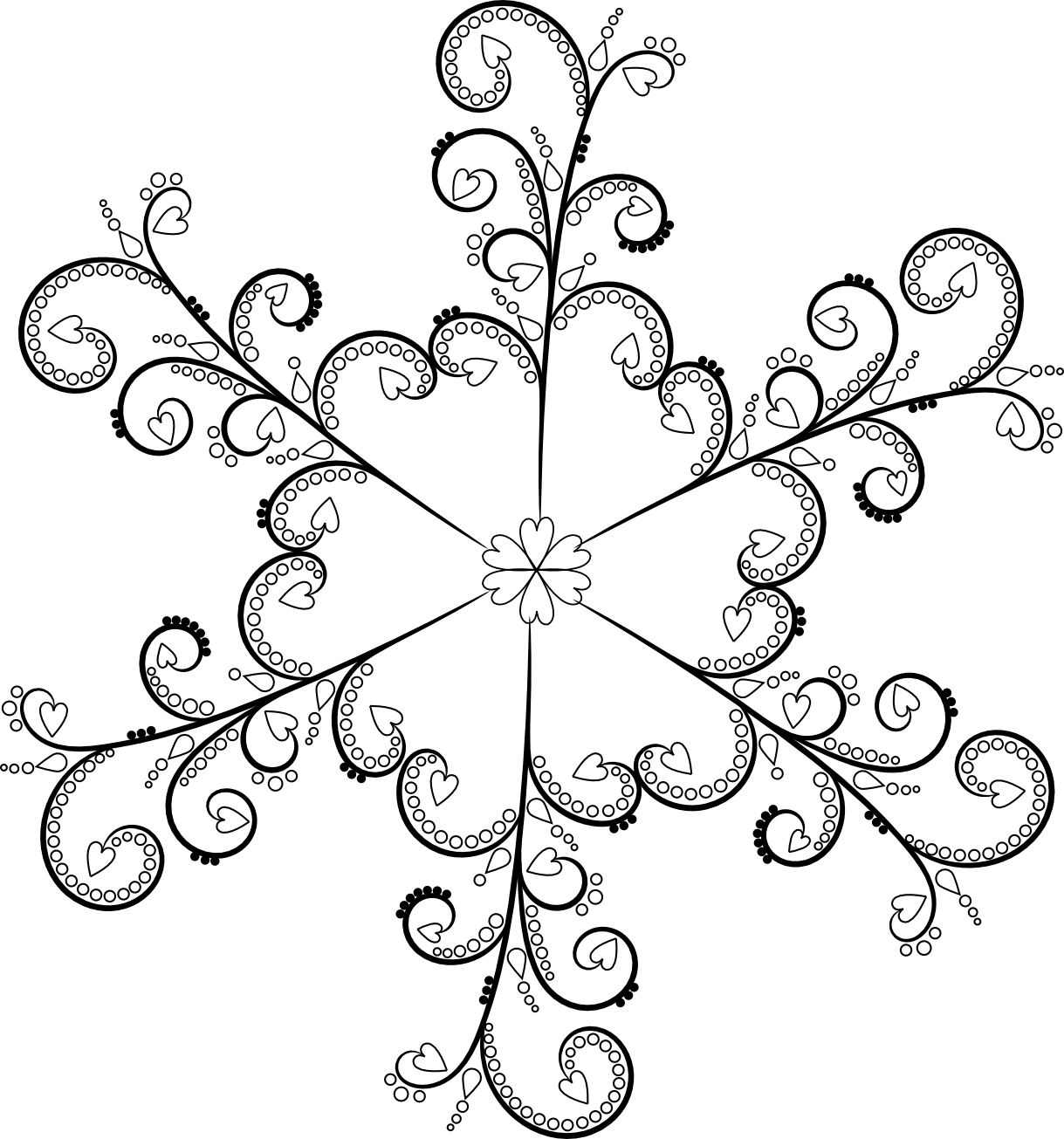 Black and white snowflake border clipart png black and white library Free Snowflake Patterns Clipart | jokingart.com Snowflake Clipart png black and white library