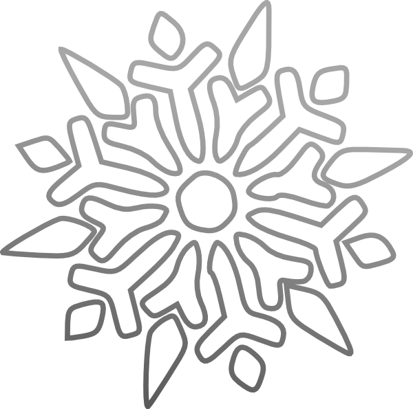 Winter clipart black and white snowflake banner transparent library Snowflake Clip Art at Clker.com - vector clip art online, royalty ... banner transparent library