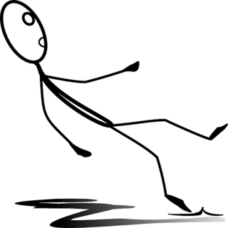 Black and white clipart someone falling down graphic free stock Falling Down and Getting Up Again | Psychology Today graphic free stock
