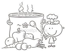 Black and white clipart sopa clip art free stock Download tem na sopa do nenem atividades clipart Soup O Que É Que Tem clip art free stock