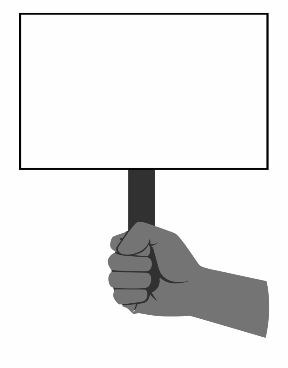 Black and white clipart sopa png library library Fist Holding Sign - Stop Sopa, Transparent Png Download For Free ... png library library