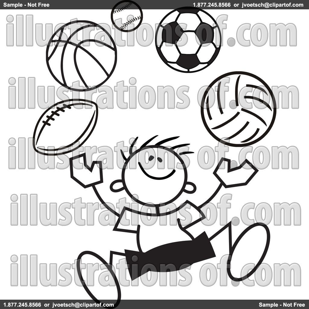 Black and white clipart sports graphic download Sports Clipart Black And White | Clipart Panda - Free Clipart Images graphic download