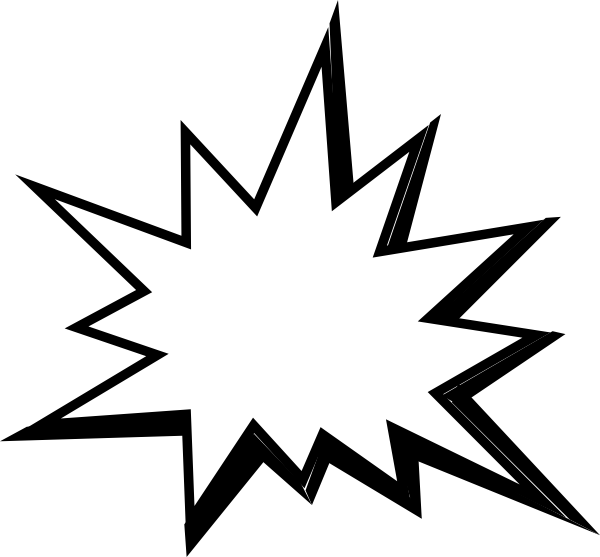 Star burst clipart black and white vector black and white download Pow White Clip Art at Clker.com - vector clip art online, royalty ... vector black and white download