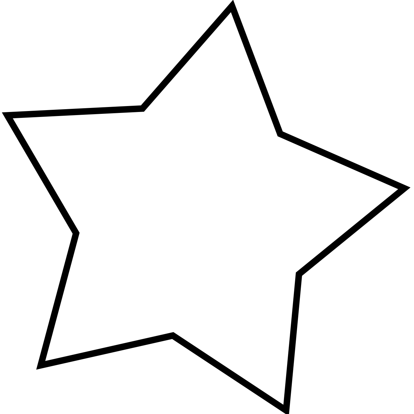 Rustic star clipart clip black and white Star Clipart Black And White | Clipart Panda - Free Clipart Images clip black and white