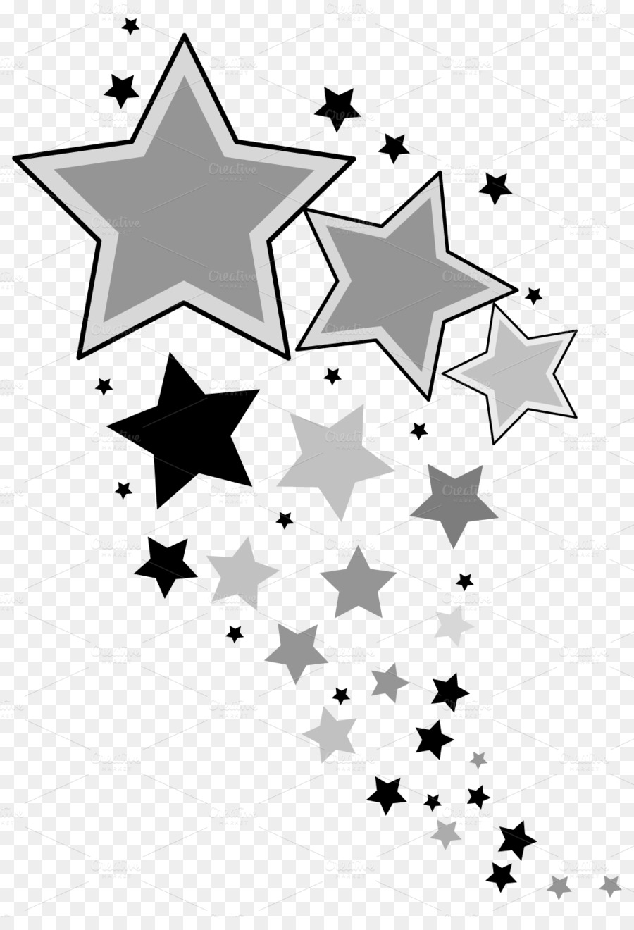 Black and white clipart star of show black and white library Winter Tree clipart - White, Black, Design, transparent clip art black and white library