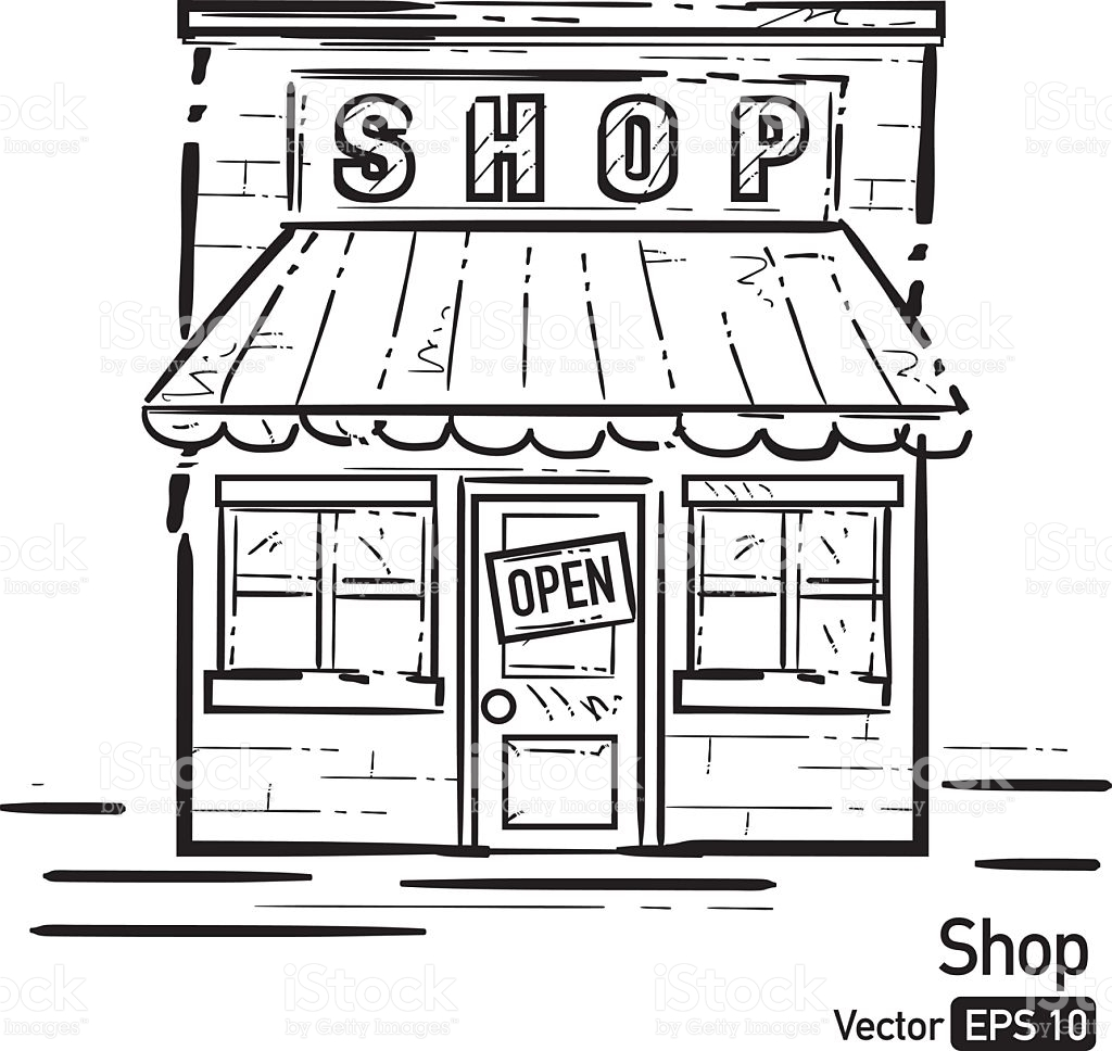 Black and white clipart store black and white download Shop clipart black and white 3 » Clipart Station black and white download