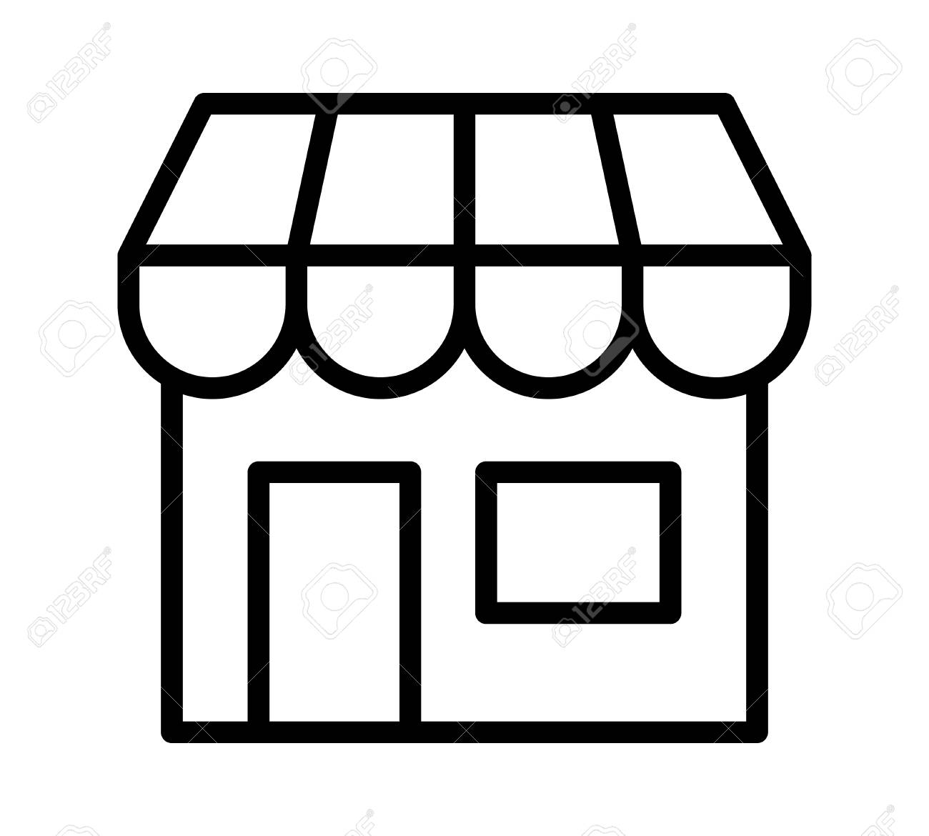 Black and white clipart store png freeuse Collection of 14 free Storefront clipart line art bill clipart ... png freeuse