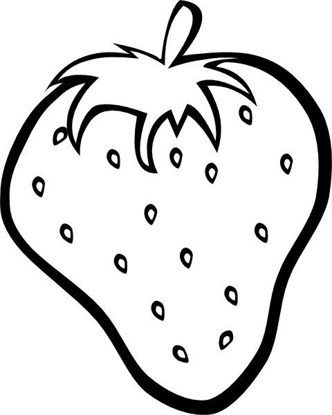 Black and white clipart strawberry svg free stock Strawberry 11 Clip Art at Clker.com - vector clip art online ... svg free stock