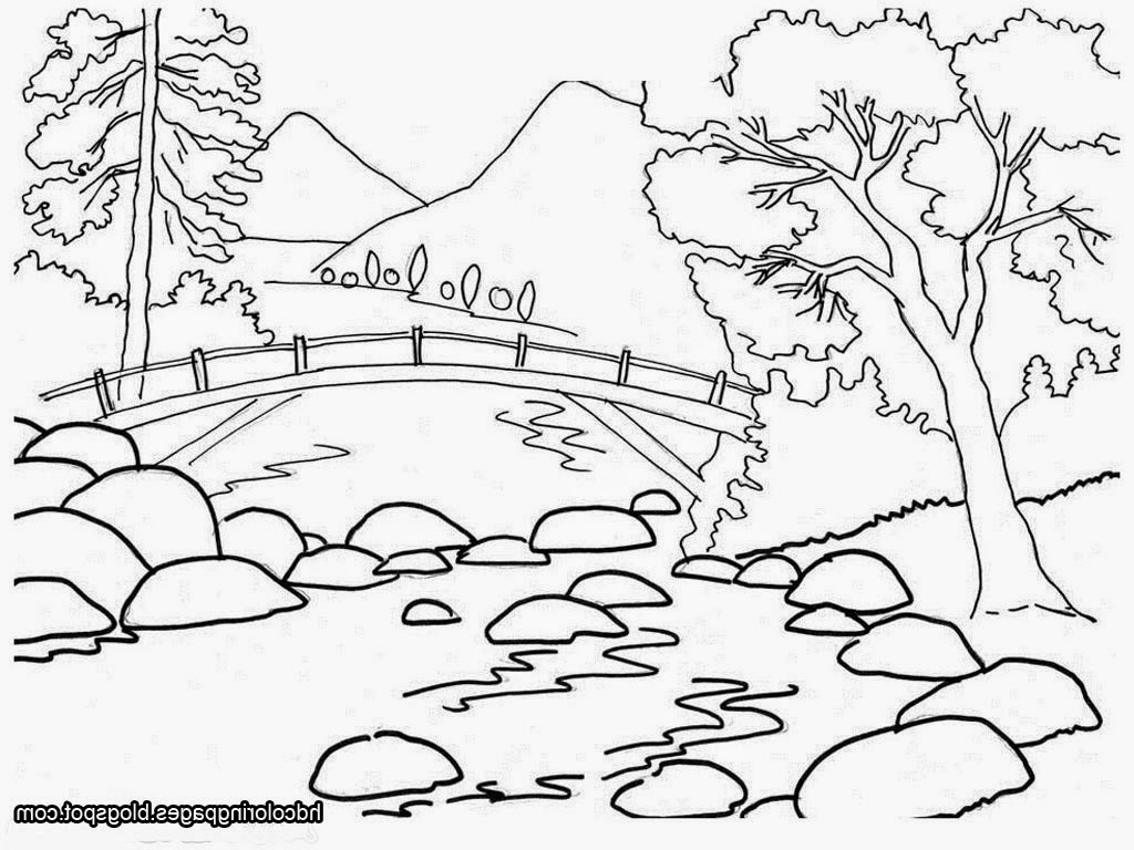 Black and white clipart students clipart black and white Natural Scenery Drawing For Kids Natural Scene Drawing - Nature Clip ... clipart black and white