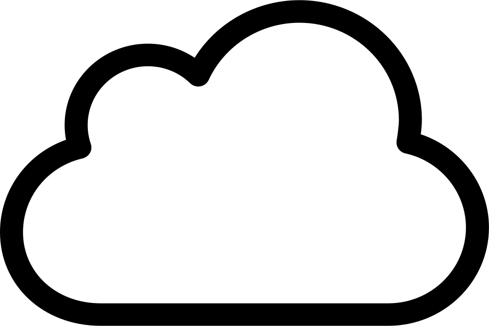 Clouds and sun clipart black and white image cloud outline - Gecce.tackletarts.co image