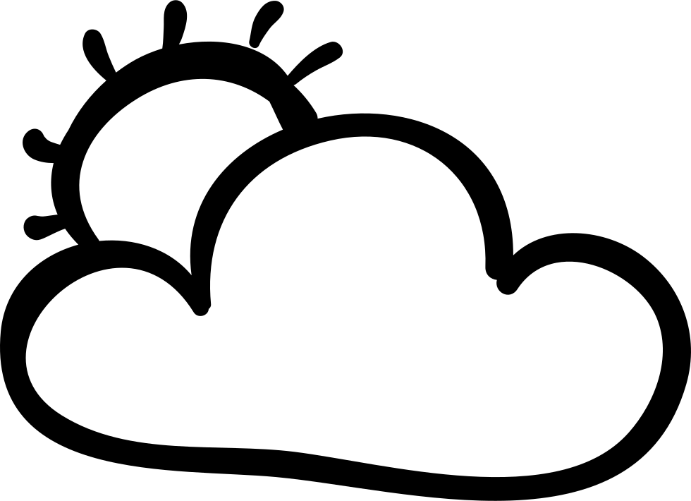 Clouds covering the sun clipart picture library stock Cloud And Sun Hand Drawn Outlines Svg Png Icon Free Download (#39969 ... picture library stock