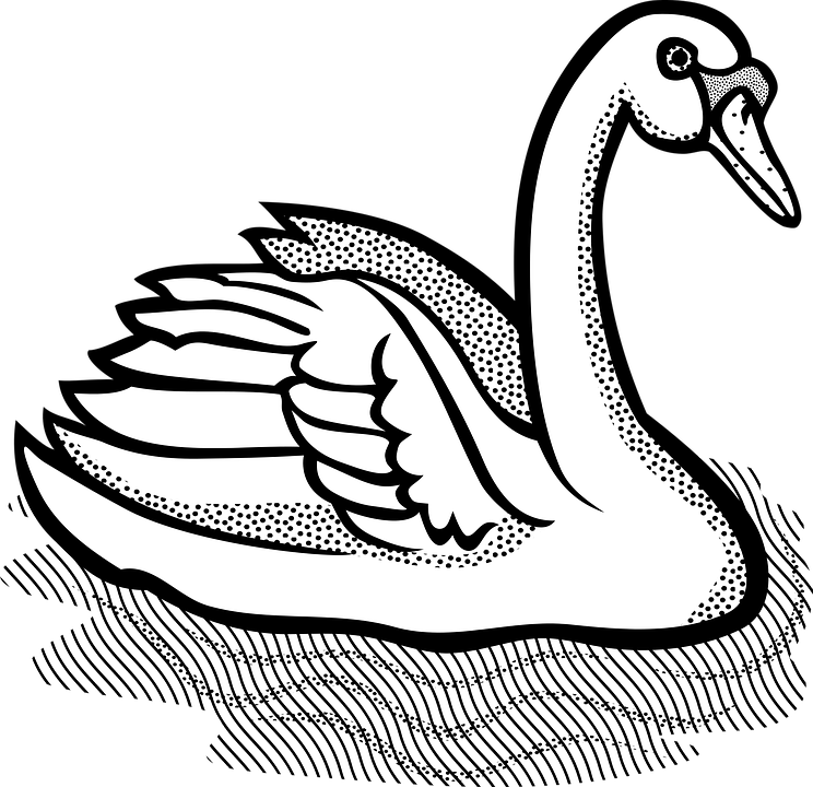 Black and white clipart swan svg royalty free stock HD Swan Clipart Black And White , Free Unlimited Download #2966115 ... svg royalty free stock