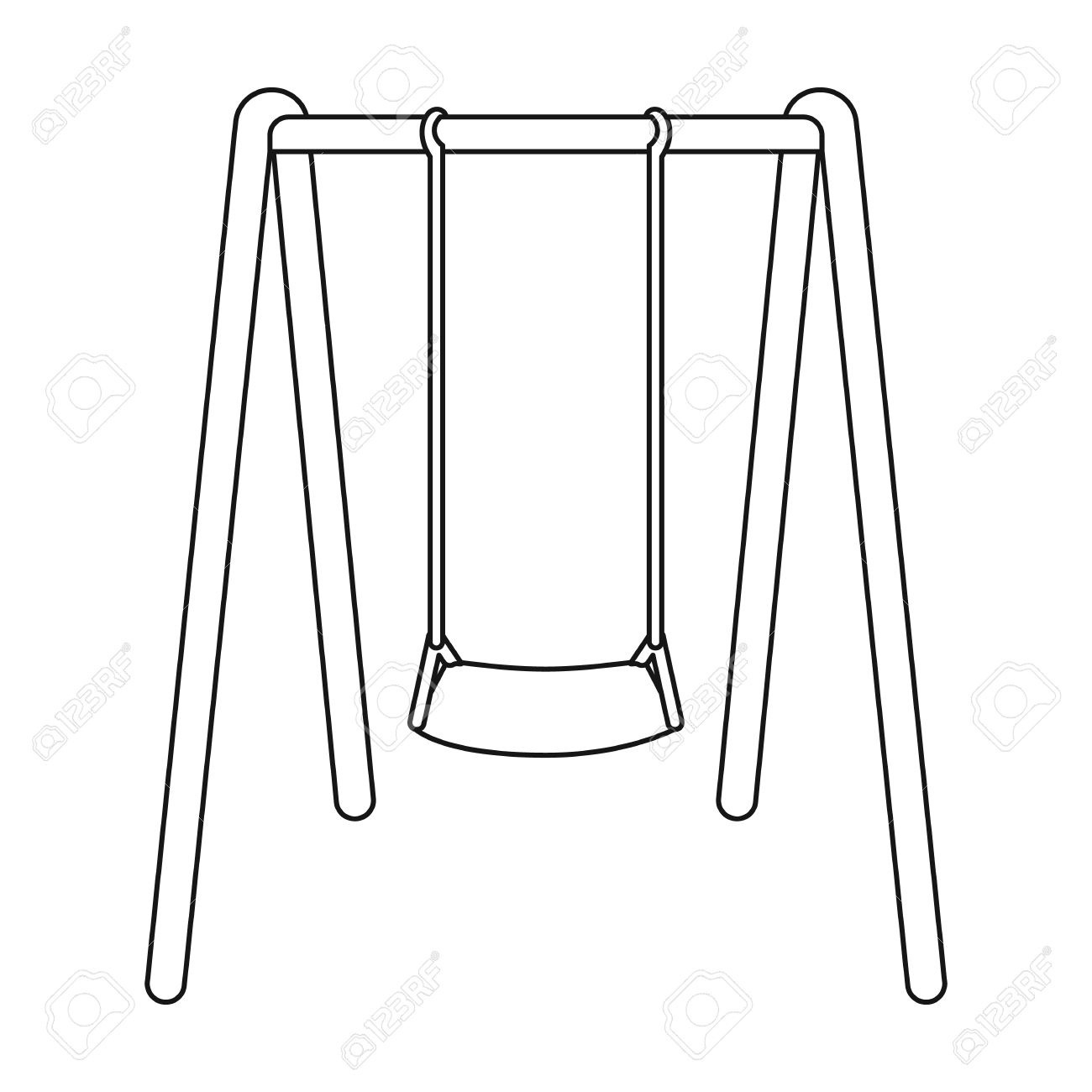 Black and white clipart swing vector freeuse Swing Clipart Black And White Hd | Letters inside Swing Clipart ... vector freeuse