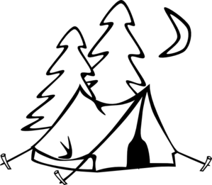 Camping stick people clipart black and white royalty free library Tent Clip Art Black And White | Clipart Panda - Free Clipart Images ... royalty free library