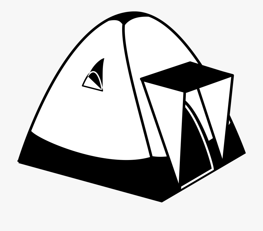 Camping black and white clipart svg library stock Camping Clipart Black And White - Tents Clip Art Black And White ... svg library stock