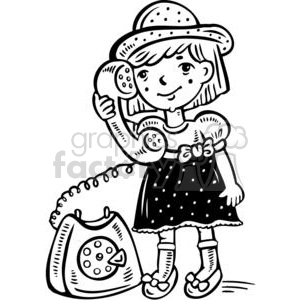 Talking black and white clipart vector free stock small girl talking on the phone clipart. Royalty-free clipart # 381558 vector free stock