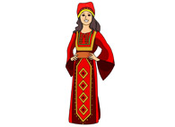 Black and white clipart traditional clothing from jordan