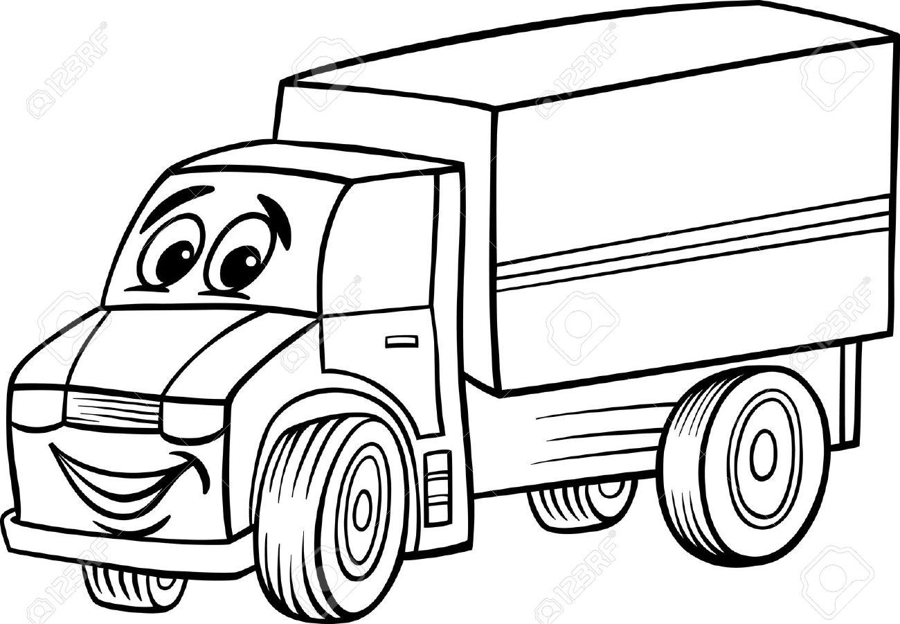 Black and white clipart trucks jpg stock Truck Clipart Black And White   Free download best Truck Clipart ... jpg stock