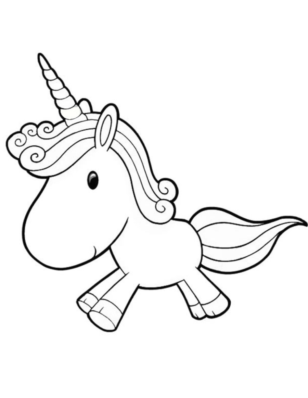 Black and white clipart unicorn