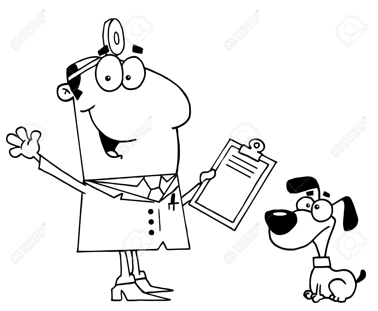 Black and white clipart vet picture royalty free library Veterinarian Clipart Black And White | Clipart picture royalty free library