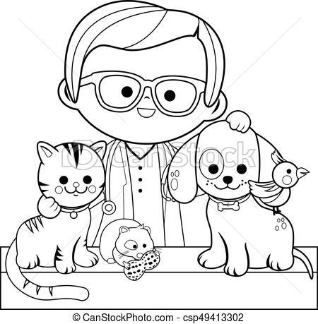Black and white clipart vet jpg library download Vet black and white clipart 1 » Clipart Portal jpg library download